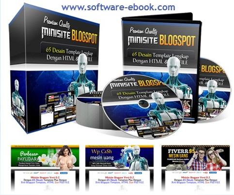 65 Desain Template Minisite Blogspot Premium V.2-b